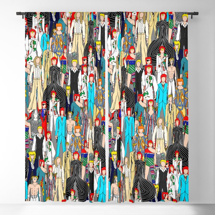 Heroes Doodle Square Blackout Curtain