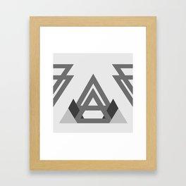 Abstract geometric line design Framed Art Print
