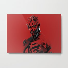 Darth Maul Sith digital art print. Metal Print