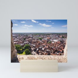 View of York from York Minster Cathedral tower Mini Art Print