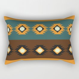 Stripes with native shapes Rectangular Pillow