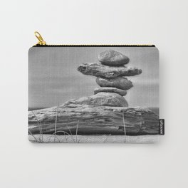 The Cairn in Black and White Carry-All Pouch