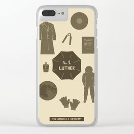 no.1 luther Clear iPhone Case
