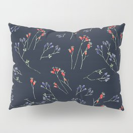Patterns of watercolor rose hip fruits Pillow Sham