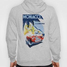 1952 Monaco Grand Prix Race Poster  Hoody