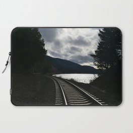 Train-tracks by the Sound Laptop Sleeve