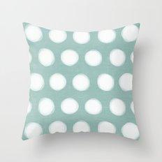 painted polka dots - robins egg blue Throw Pillow