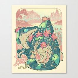Aquatic buddies Canvas Print
