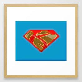 karazorel-superk-blue Framed Art Print