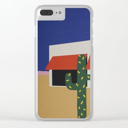 Boutique With Cactus Clear iPhone Case