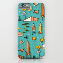 Space Age Blues #spaceage iPhone Case