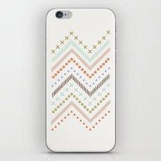 Mixed Zig Zag - in Mint iPhone & iPod Skin