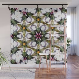 Flowery Expectations In Abstract Wall Mural