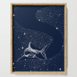Starry Shark Serving Tray