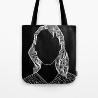 poker Tote Bags featuring Poker Face by Laura Moreau