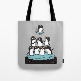 Penguin Pyramid Tote Bag
