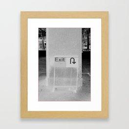 Tunneling Framed Art Print
