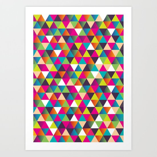 Crazy Pattern Art Print