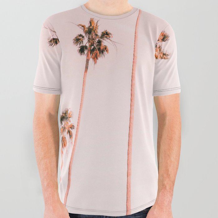 Summer Palms All Over Graphic Tee by Gale Switzer - Medium
