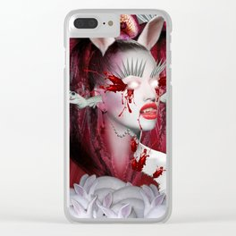 Red Queen Clear iPhone Case