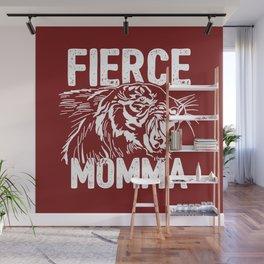 Fierce Momma / Red Wall Mural