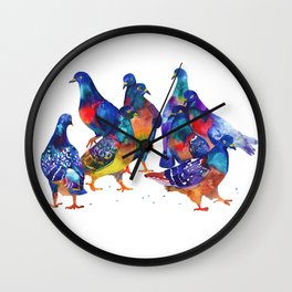 more pigeons Wall Clock