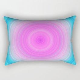 Pink & Aquamarine Circles Rectangular Pillow