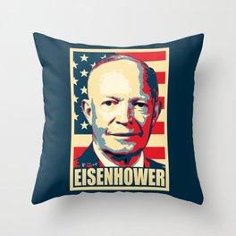 Eisenhower Propaganda Pop Art Throw Pillow