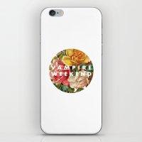 vampire weekend iPhone & iPod Skins featuring Vampire Weekend vintage flowers by Van de nacht