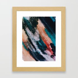 Chaos: a mixed media abstract in a variety of vibrant colors Framed Art Print