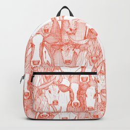 just cattle flame white Backpack