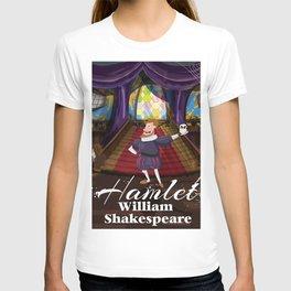 Hamlet by William Shakespeare cartoon poster T-shirt