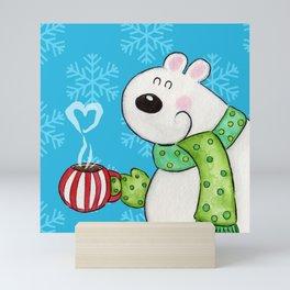 Hot Cocoa Polar Bear Mini Art Print
