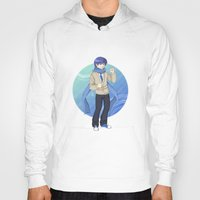 vocaloid Hoodies featuring Kaito - VOCALOID Gakuen by Tenki Incorporated