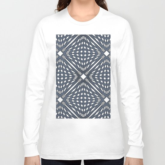 Abstract geometric pattern,gray pattern on a white background. Long Sleeve T-shirt