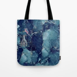 Blue Marble Texture Tote Bag