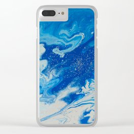 Fluid Blue 6 Clear iPhone Case