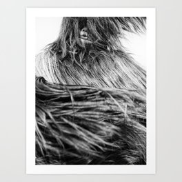 Kuker Performer Black and White Portrait Photography I Art Print