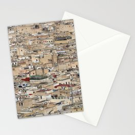 Skyline Roofs of Fes Marocco Stationery Cards