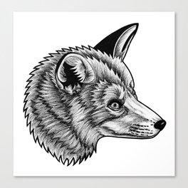 Red fox - ink illustration Canvas Print