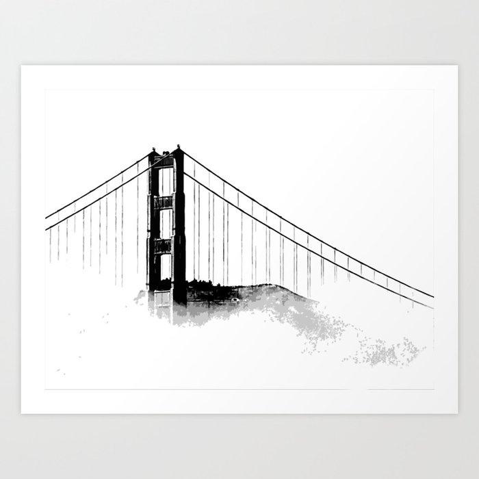 Golden Gate Bridge Art Print By Tommyvotran