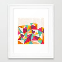 diamond Framed Art Prints featuring Diamond by Kakel