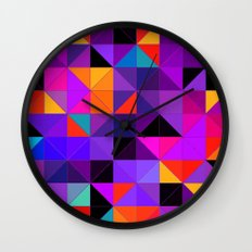 Purple and orange 2 Wall Clock
