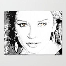 Catherine Zeta Jones Face2 Canvas Print