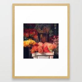 Flower Shop New York City Framed Art Print