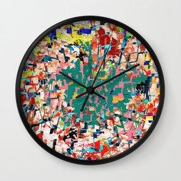 Scrap Paper Wall Clock