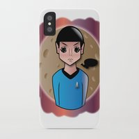 spock iPhone & iPod Cases featuring Spock by hannahroset
