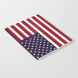 """Stars & Stripes flag, painterly """"old glory"""" Notebook"""