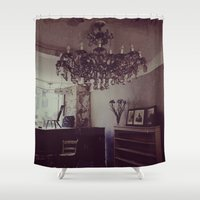 antique Shower Curtains featuring Antique by Jane Lacey Smith