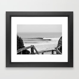 Wave of the day, Bells Beach, Victoria, Australia Framed Art Print